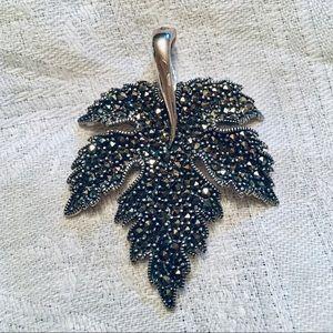 Sterling Marcasite Leaf Enhancer